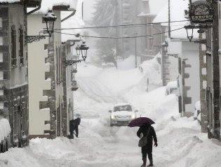 Fuertes nevadas registadas en España