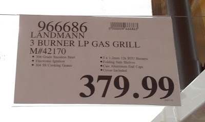 Deal for the Landmann model 42170 3 Burner LP Gas BBQ Grill at Costco