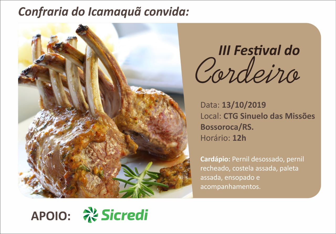 3º Festival do Cordeiro