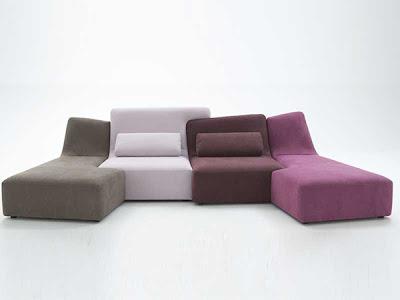 Ligne-Roset ha creado unos sillones modernos con formas irregulares para combinar que te dan flexibilidad a la hora de elegir el diseño que más te gusta o que más te conviene.