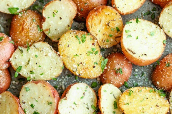 http://damndelicious.net/2014/07/23/garlic-parmesan-roasted-potatoes/