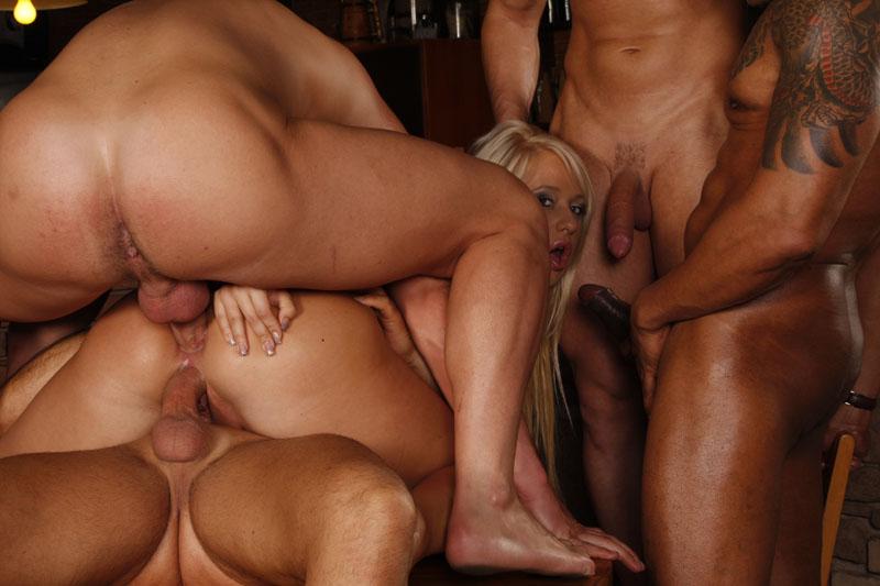 lesbians gang bangs