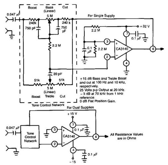 Baxandall Tone-Control Audio Amplifier