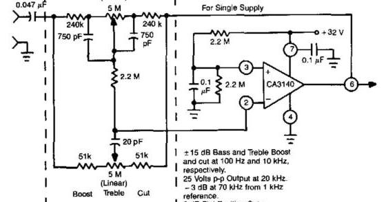 amplifiercircuits com baxandall tone control audio amplifier