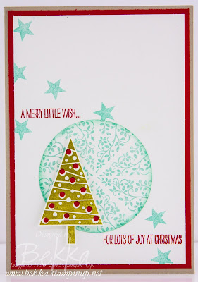 Festival of Trees Card - Make this with the Feeling Crafty Christmas Card Club