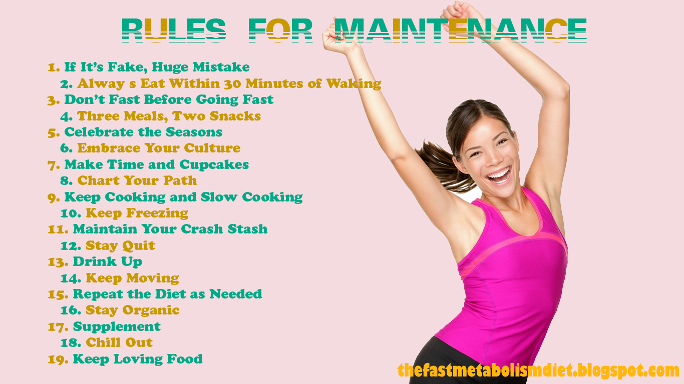 The Fast Metabolism Diet Rules for Maintenance