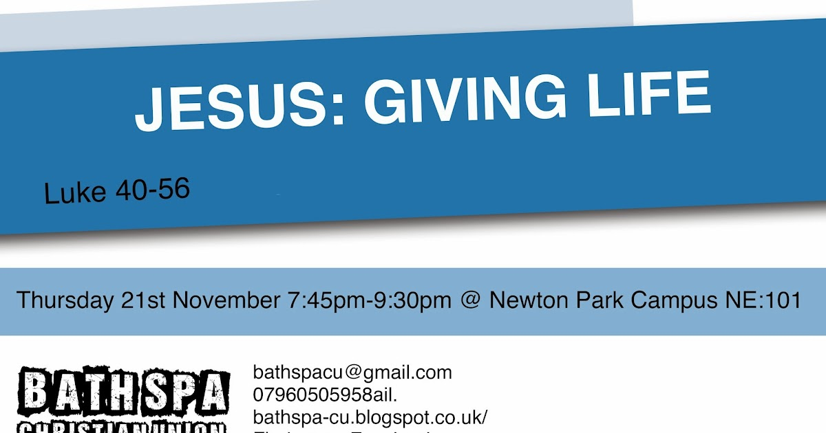 Bath spa christian union for Generous living