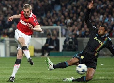 Champions League, Darren Fletcher Man Utd,Edouard Cisse Marseille