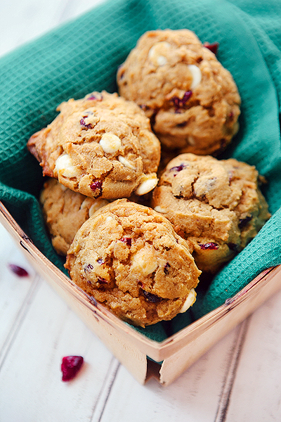 Pumpkin Cranberry White Chocolate Cookies - Some the Wiser