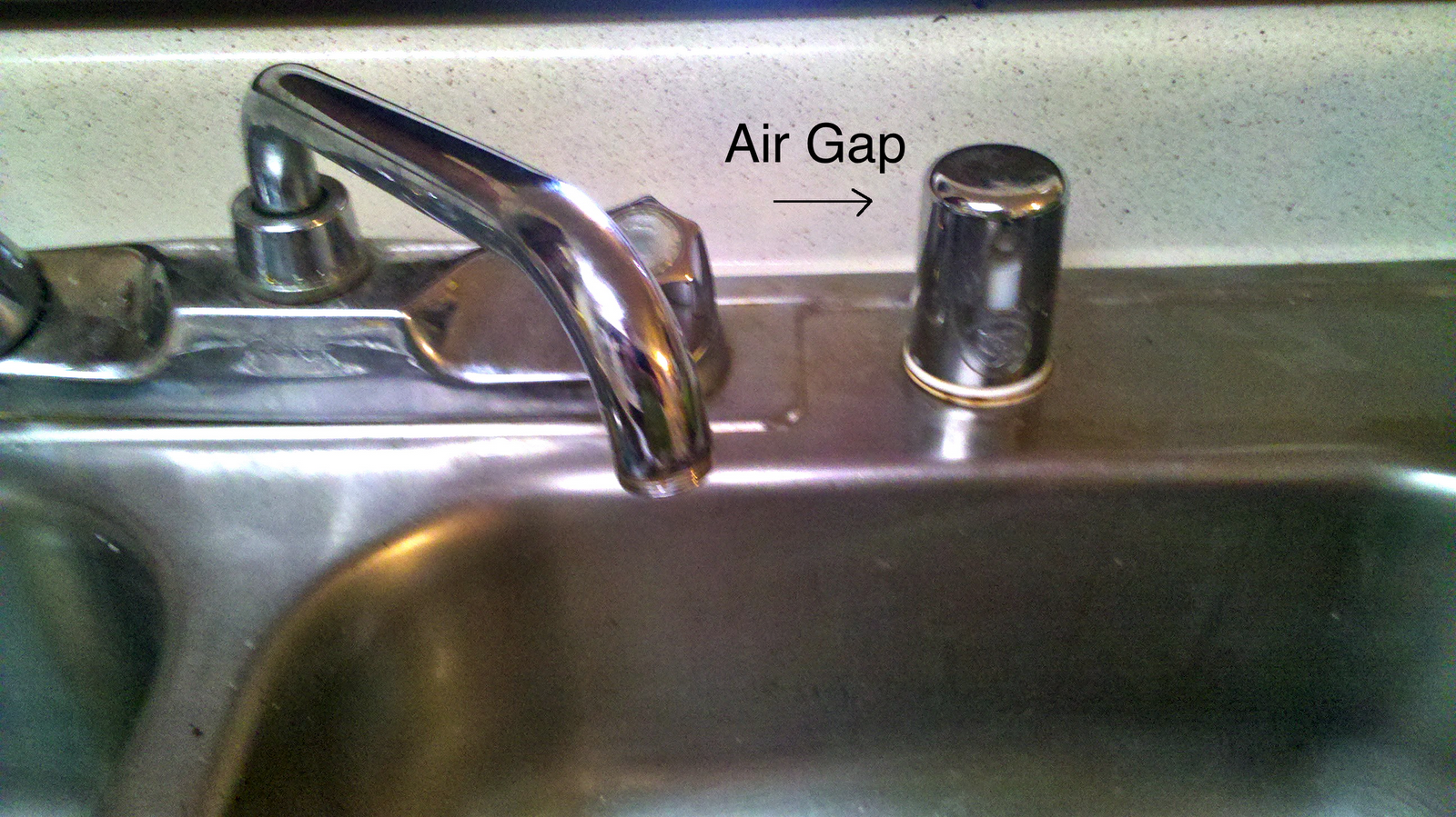 Dishwasher Air Gap ~ Captain schmiddy girl fix it yourself mind the gap