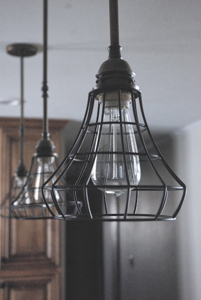 Industrial Cage Pendant Lights for Kitchen