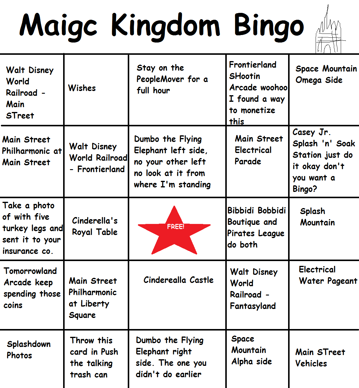 Image Of Make Bingo Card Free Printable Bingo Card
