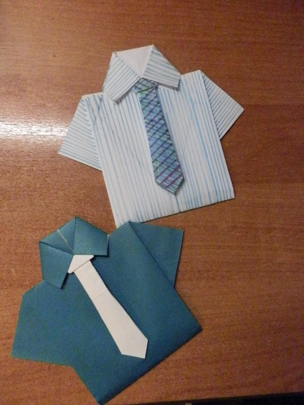 Оригами подарок папе рубашка 71