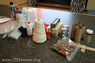 Photo of materials to make available for an inquiry Friction lab | STEMmom.org
