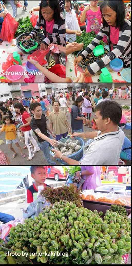 sarawak olive sell in Borneo bazar masai Johor