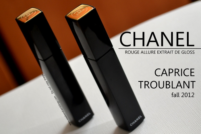 Les Essentiels Chanel Rouge Allure Extrait de Gloss Caprice Troublant Fall Makeup Collection 2012 Beauty Blog Swatches