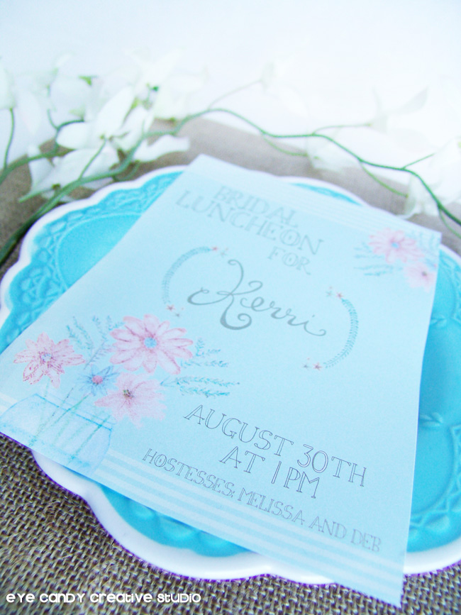 watercolor flowers, bridal shower invite, rustic shower invitation, burlap