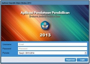 Informasi Umum Aplikasi Dapodikdas 2013