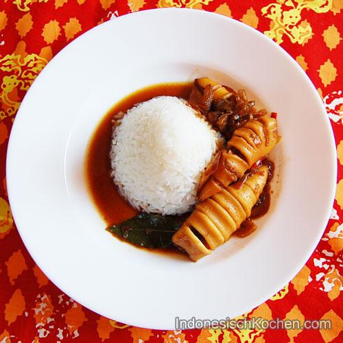 Tintenfisch Kecap Soße indonesisch Rezept