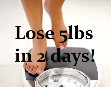 lose 4 pounds of water weight