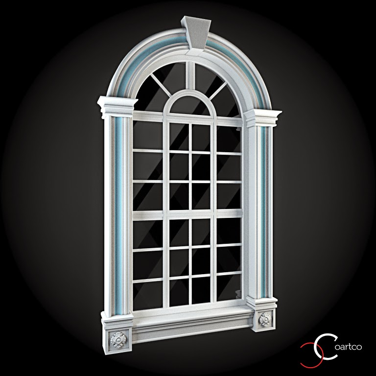 Ornamente Geamuri Exterior, Arcada, fatade case cu profile decorative polistiren, profile fatada,  Model Cod: WIN-072