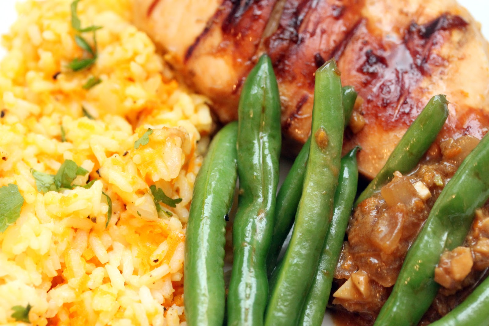 gingersnaps: garlic-ginger chicken with carrot-ginger rice