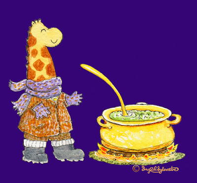 Girth giraffe cooking sprout soup - Ingrid Sylvestre