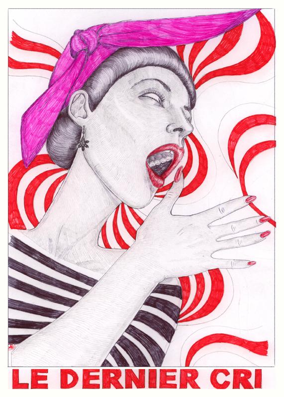 Artaksiniya drawing Le Dernier Cri