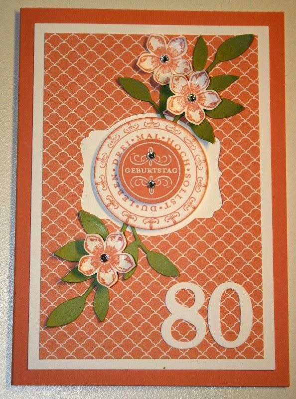 der kleine stempelgarten geburtstagskarte zum 80. Black Bedroom Furniture Sets. Home Design Ideas