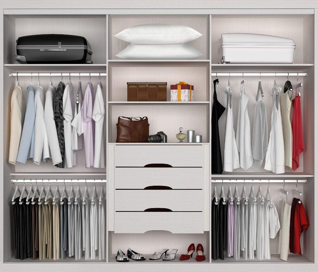Шкафы с полками: закрытые и полузакрытые модели для одежды с.