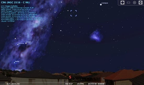 21 Januari: Malam Terbaik Mengamati Gugus Bintang NGC 2516