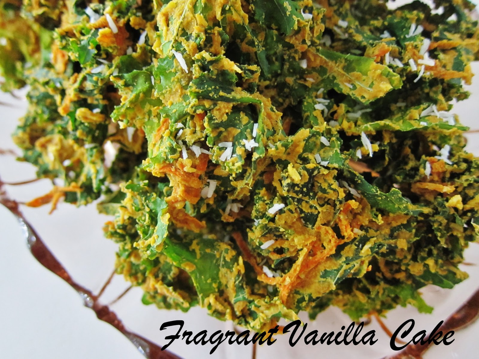 ... last week and i was about to make kale chips so carrot cake kale chips