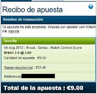 Apuestas Deportivas Rosberg Voleibol Juegos Olímpicos Londres Brasil Serbia William Hill