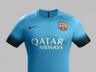 Jersey Barcelona Warna Biru Edisi Liga Champions 2015-2016