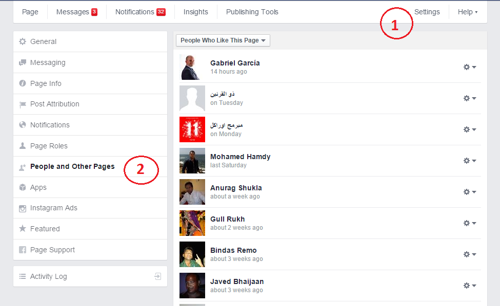 Check who likes your page on Facebook.