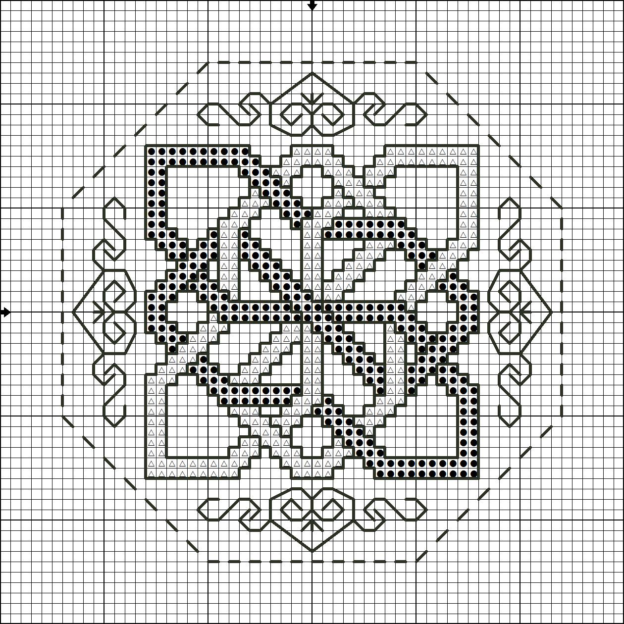 Вышивка крестом квакеров