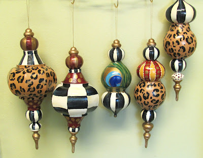 diy hand painted designer finial ornaments