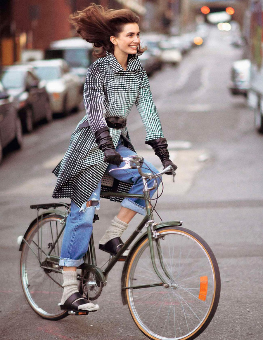Andreea Deaconu photographed by David Sims in Vogue Paris February 2013  / bicycles in Vogue, Harper's Bazaar, Marie Claire, Elle fashion editorials and campaigns / via fashioned by love british fashion blog