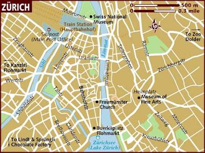 Zurigo Mappa della città