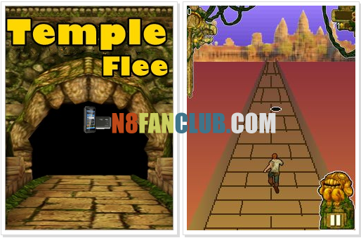 Temple Flee 1.0 - Temple Run for Nokia Symbian Belle - N8 - 808 - 701