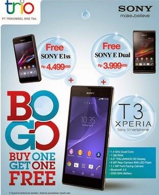 Beli Sony Xperia T3 Bonus Sony Xperia E1