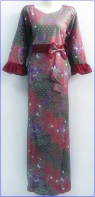 Warna Warni Model Baju Gamis Batik Terbaru