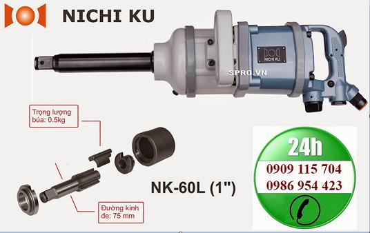 Súng xiết bu lông Nichi ku 1 inch NK- 60L