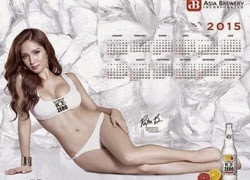 Roxee B is Sexy for Asia Brewery 2015 Calendar!