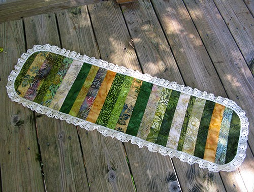 Island Batik table runner at Freemotion by the River