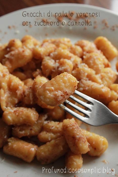 gnocchi di patate con zucchero e cannella, antica ricetta