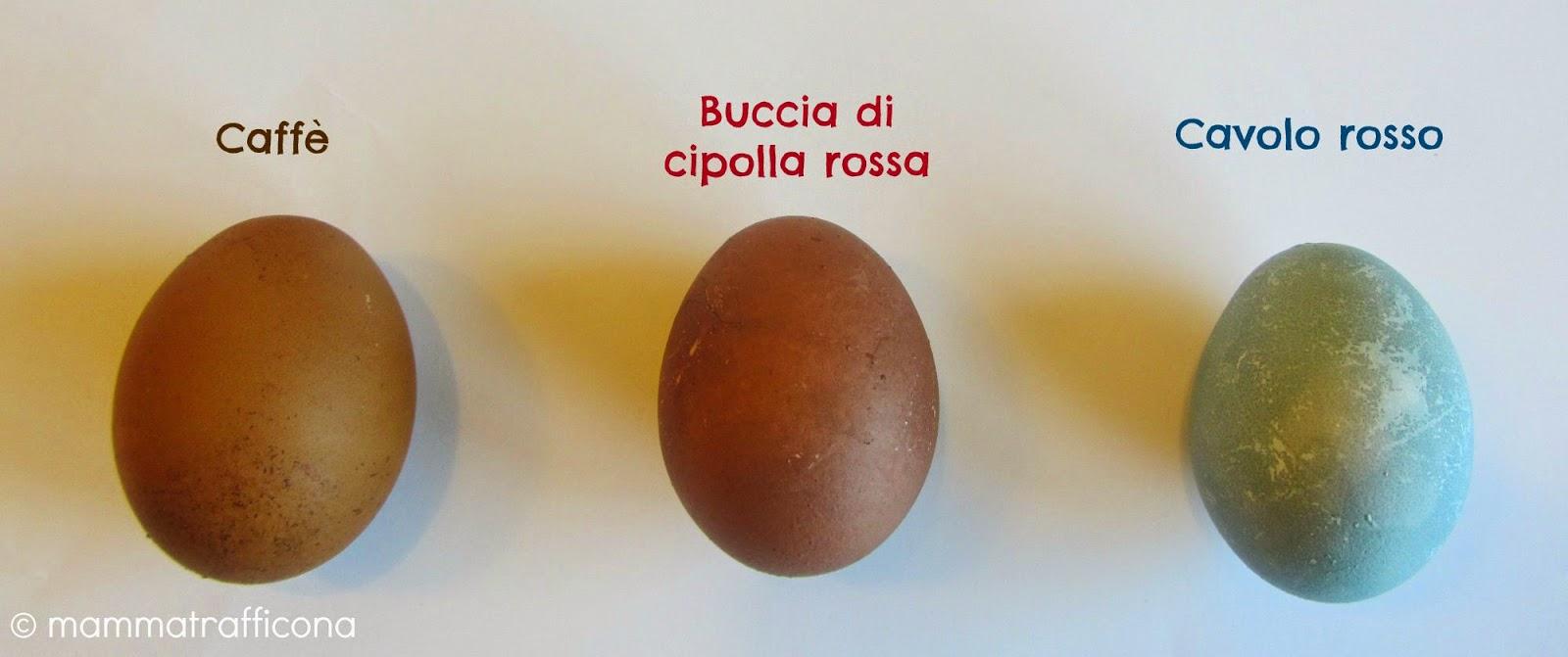 uova con colori naturali