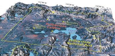 erupción caldera en yellowstone