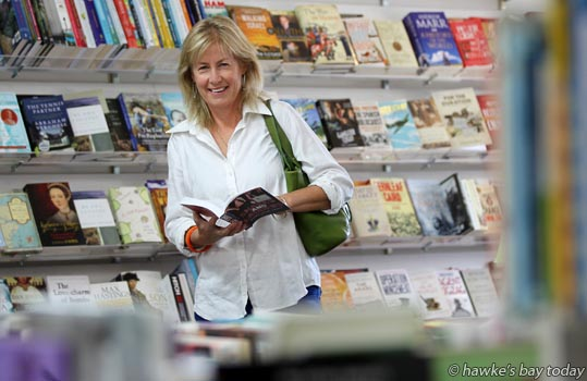 "Mary-anne Scott, author, Havelock North, pictured at the ""very supportive"" Poppies Bookshop, Treachers Lane, Havelock North. Her book, Snakes and Ladders, received a nomination in the New Zealand Post Children's Book Awards photograph"