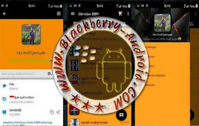 BBM Mod New Simple Orange Dark Versi 2.9.0.44 Apk